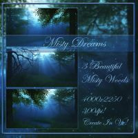 Misty Dream backgrounds by moonchild-ljilja