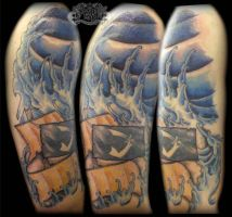 Waves by state-of-art-tattoo