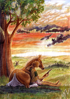 A boy and his horse by Shotechi