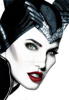 Angelina Jolie Maleficent - Colored by The-Ginger-Artist