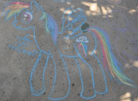 Chalk Rainbow Dash by stewi0001