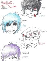 Gorillaz :3 by INSANELY-CRAZY