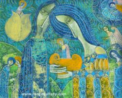 Yuli Shumarev - Two by the river of life by Art-Gallery-Largo
