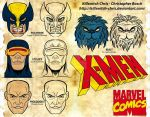 X-men Headshots by Killswitch-Chris