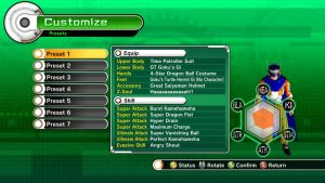 DBZ Xenoverse. My moves and Gear by Black-Bird-Zaiden