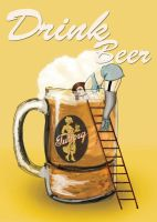 drink beer - pin up by su-da