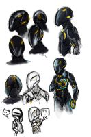 Rinzler Sketch Dump by Cerebrobullet-art