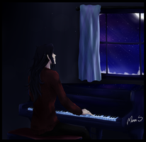 FFVII - Midnight melodies by WhistlingWolf13