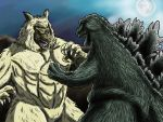 Godzilla vs The Wolfman by kaijukid