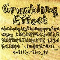 Grumbling Effect Font by veredgf