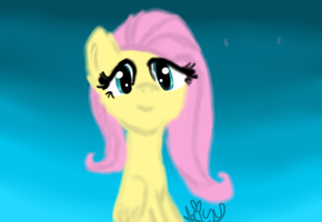 Painted Fluttershy~ by Alljammedout55