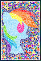 Minimal Mosaic: Rainbow Dash by flamevulture17