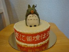 Totoro - a frosting adventure by CakeandCaboodle