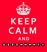 Keep Calm and Konami Code by lupineragdoll