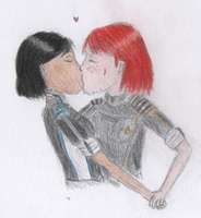 miles from where you are (femshep x samantha) by carrotycake