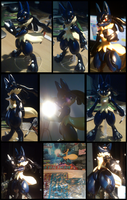 Lucario cosplays as Mega lucario by NCH85