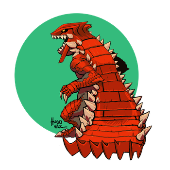 Groudon - 3rd Generation Collab BR by DUCKAZOID