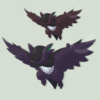 Fakemon Vladrac Nightfall Form by mssingno