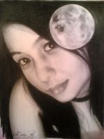 moonlight driven pencil by Jim-Dacuycoy