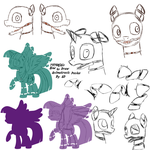 TUTORIAL : How to Draw Animatronic Ponies by AD-Laimi