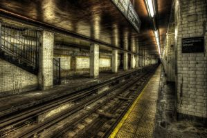 Chambers Street Subway V by marcialbollinger