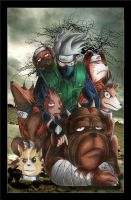 Kakashi's Shinobi dogs by Giosuke
