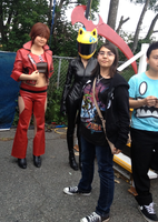 Me, Meiko, and the biker Chick by PartyRockingPikachu