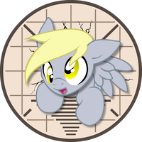 Technical Derpyculties Button! by Inkwell-Pony