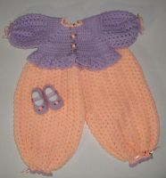 Lavender and Peach Bubble Suit by Crochet-by-Clarissa
