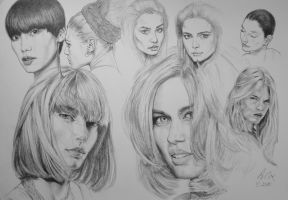 face Studies by andrewcox
