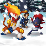 [Poke-Auction] Protecting in the Snow by Pikuna
