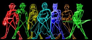 dc heroes neon by AlanSchell