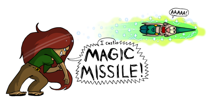 Susan's Magic Missile by RoughSketch897