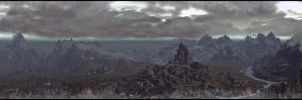 Skyrim - Cold Snap Over Whiterun by Murcuseo