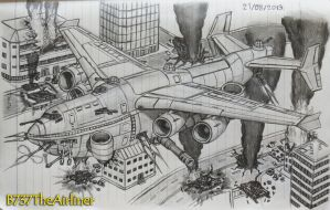 Destruction in the City by B737TheAirliner