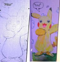 Pikachu! (On My Brother's Wall) by kknkbaker