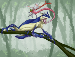 December 17th, 2013: Greninja by UltimateSassMaster