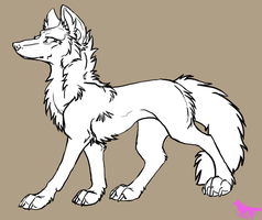 Free wolf lineart by nightspiritwing
