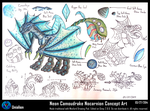 Neon Camoudrake Nocarnion Concept Art by Unialien
