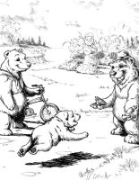 Uncle Comes to Visit Baby Bear by D-Cranford