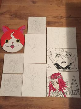 Ongoing Canvas Projects by dewildbunbun