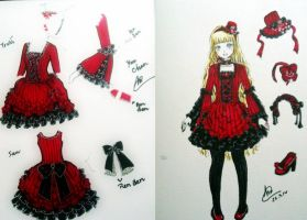 Lolita costume design by phanbichha