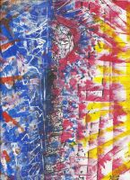 Battle Of A Double Life - Finger Painting by Innnerartist