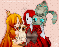 Kittys by KuroiiFox