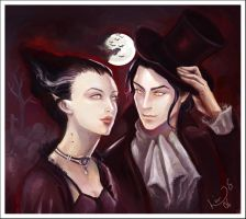 Commission: Vampires by Linnpuzzle