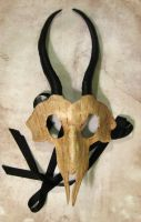 Leather Gazelle Skull Mask by Dr-K