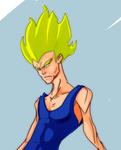 vegeta Closeup by MAGAM88