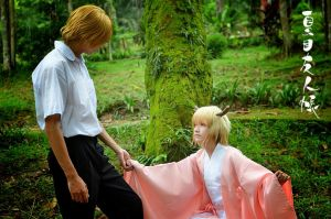 Daddy Natsume with Tama by SilentCircus90
