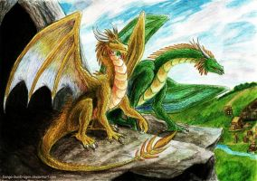 HoMM3 Gold and Green Dragons by Danga-SunDragon