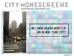 +city homescreens by clxckworksoul